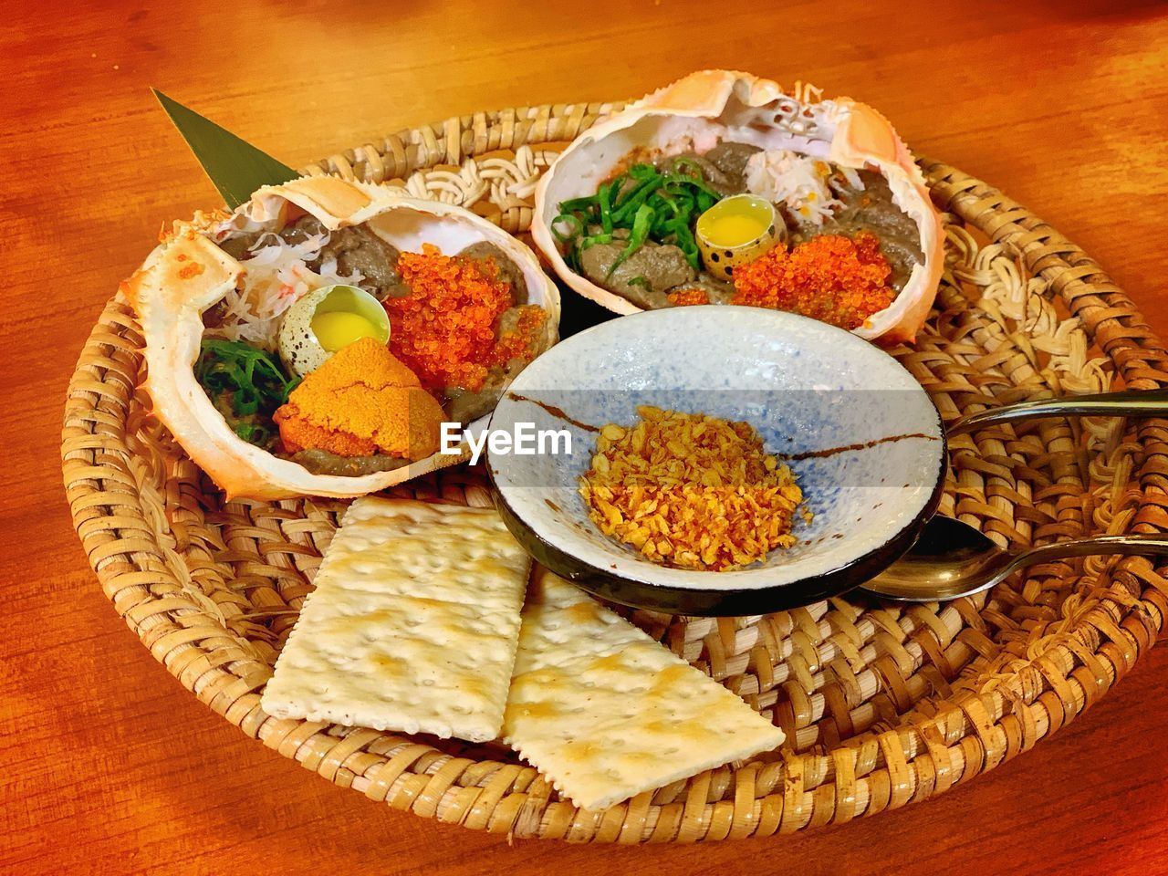 food and drink, food, freshness, table, ready-to-eat, indoors, still life, healthy eating, bowl, close-up, no people, high angle view, plate, wellbeing, asian food, serving size, meat, rice - food staple, meal, vegetable, crockery, place mat, temptation, garnish, japanese food