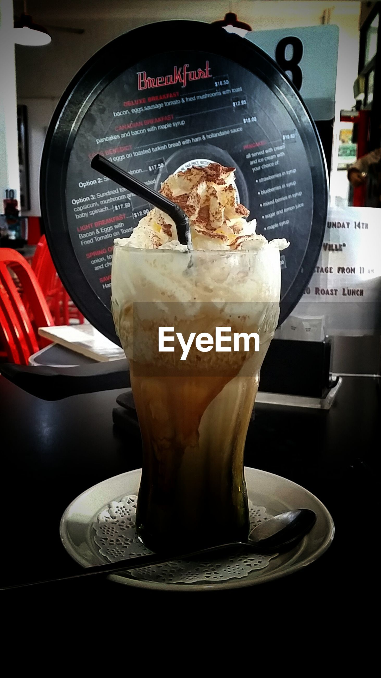 sweet food, ice cream, dessert, food and drink, frozen food, temptation, table, indulgence, food, indoors, refreshment, serving size, freshness, unhealthy eating, drink, cafe, no people, milkshake, close-up, ready-to-eat, frothy drink, day, ice cream sundae, ice cream parlor