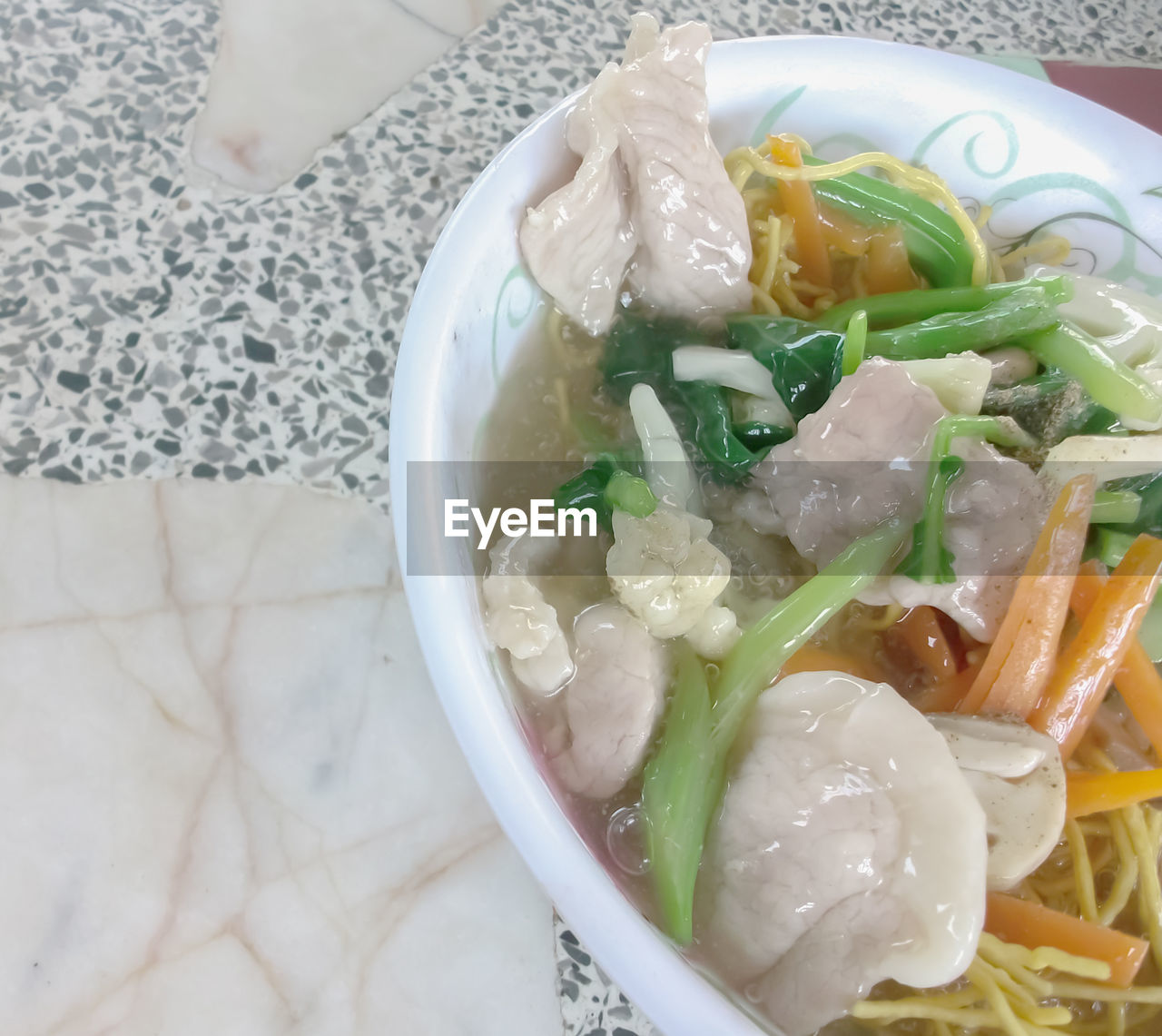 food and drink, food, healthy eating, freshness, bowl, ready-to-eat, indoors, high angle view, table, serving size, close-up, soup, no people, day