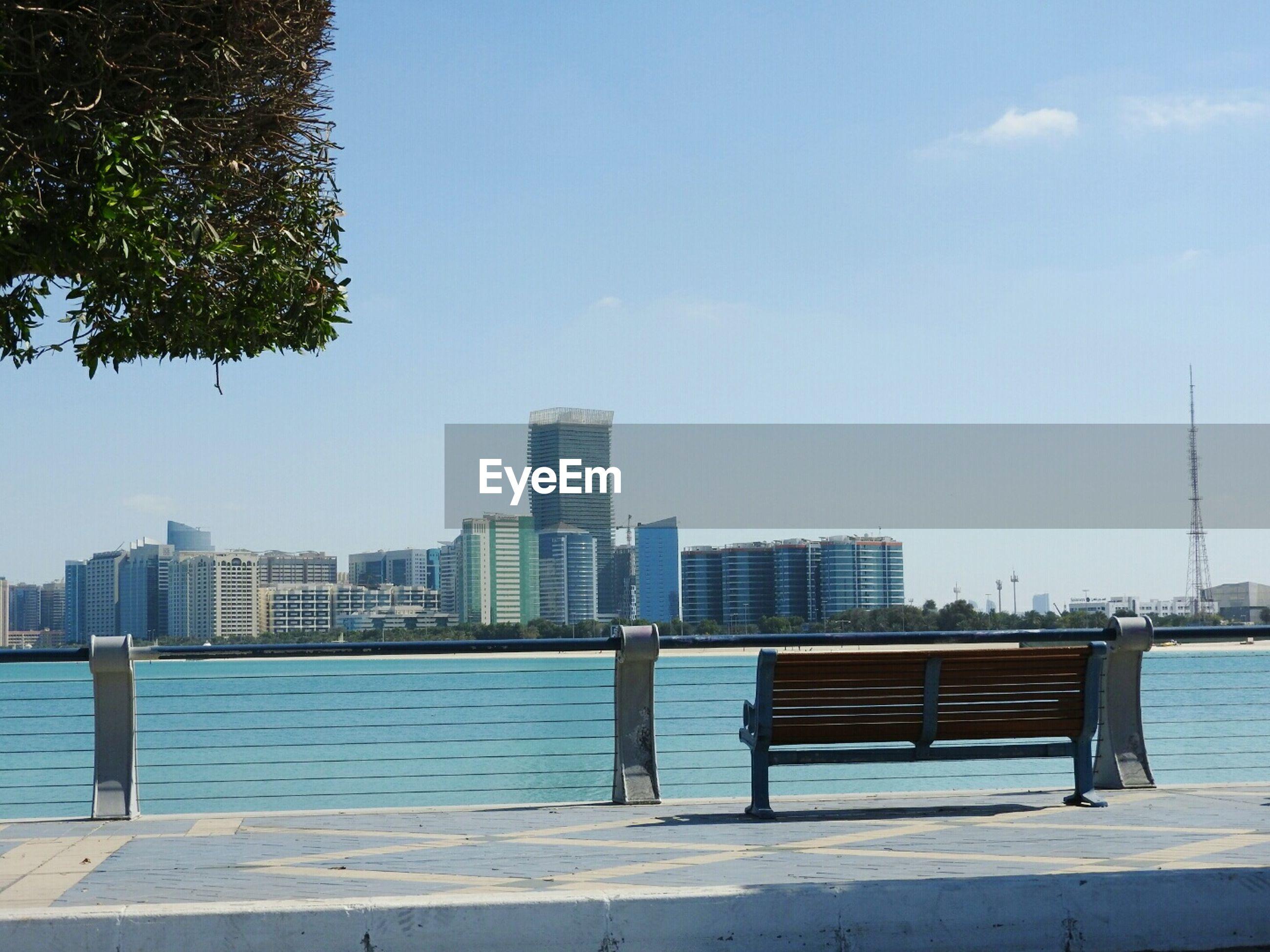 VIEW OF CITY SKYLINE AGAINST SKY