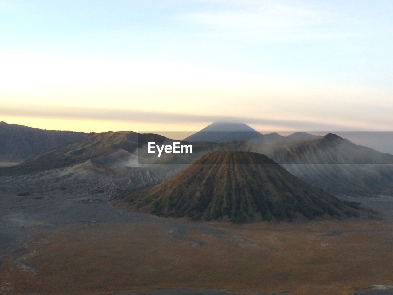 Scenic View Of Mount Bromo Against Sky During Sunset