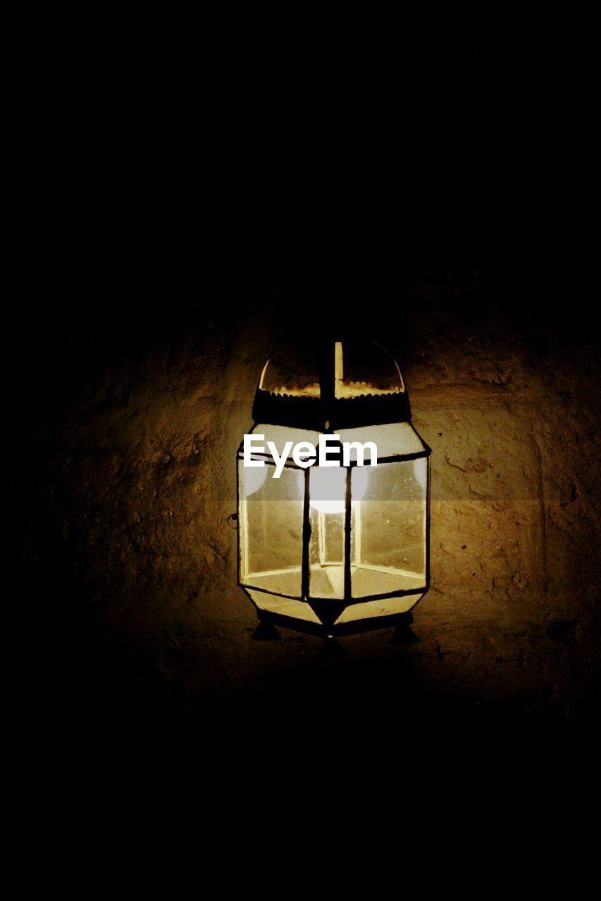 illuminated, lighting equipment, night, electricity, no people, indoors, lantern, close-up