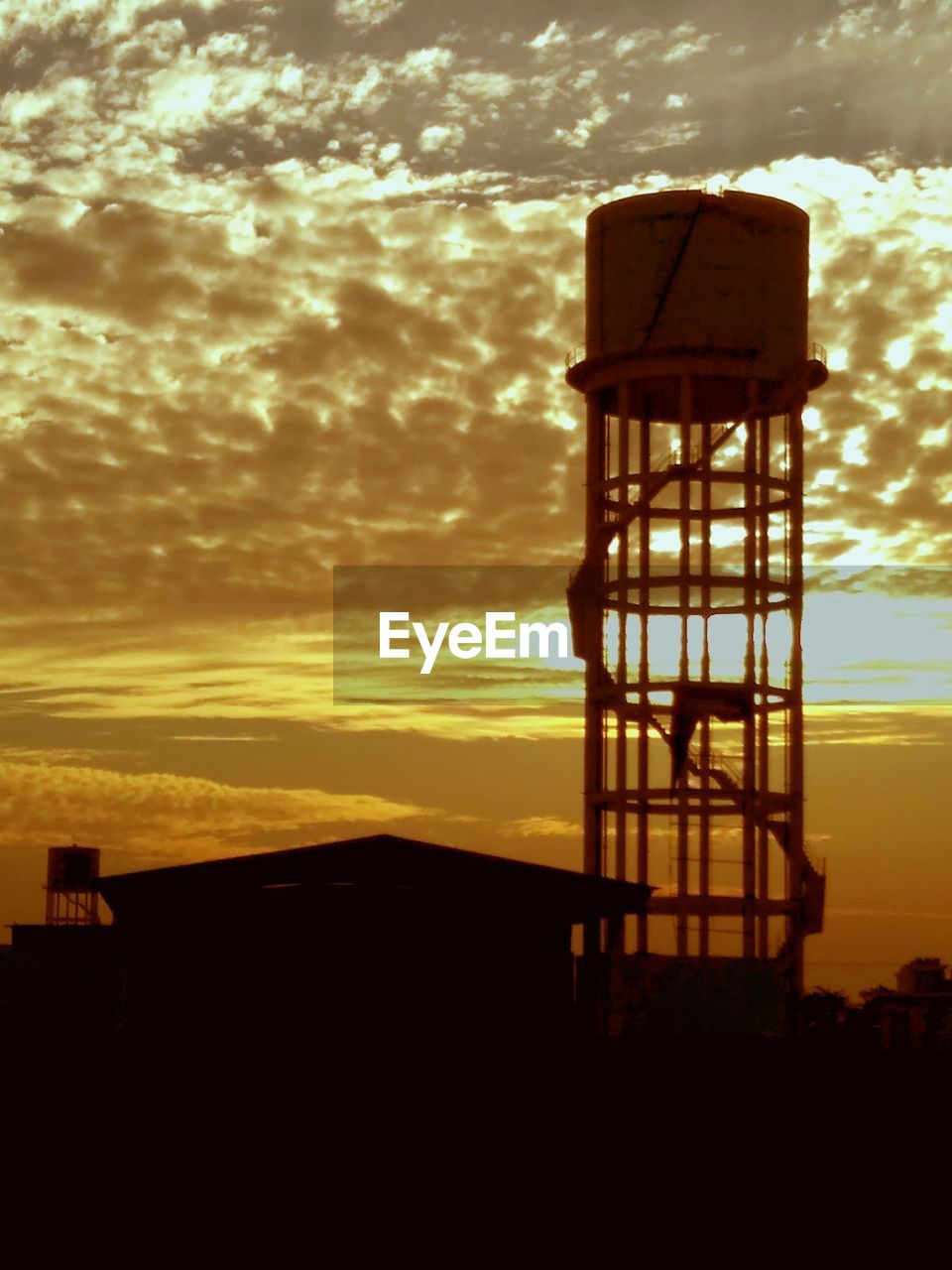 sunset, sky, cloud - sky, silhouette, built structure, no people, nature, outdoors, architecture, lookout tower, beauty in nature, day