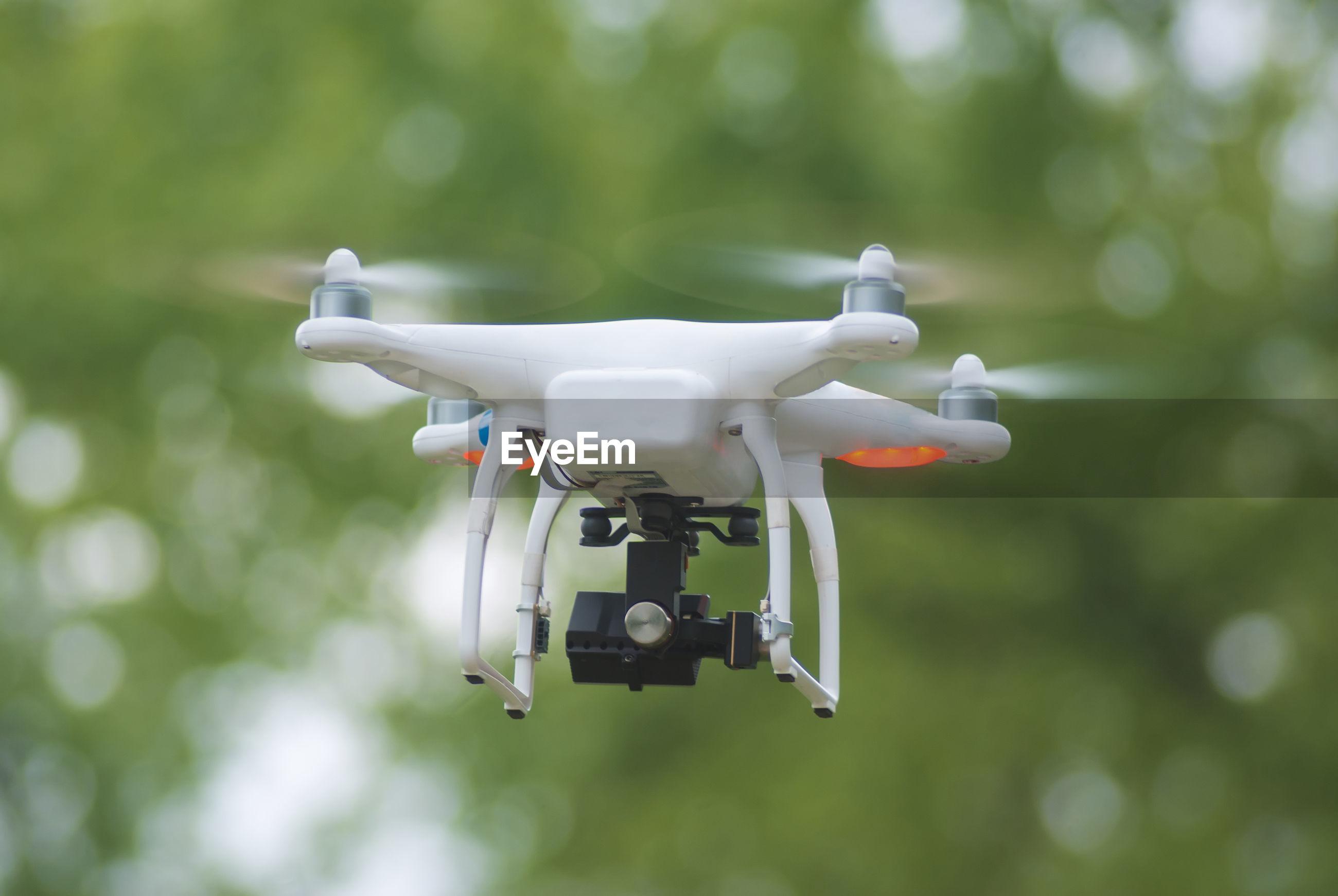 Close-up of drone camera