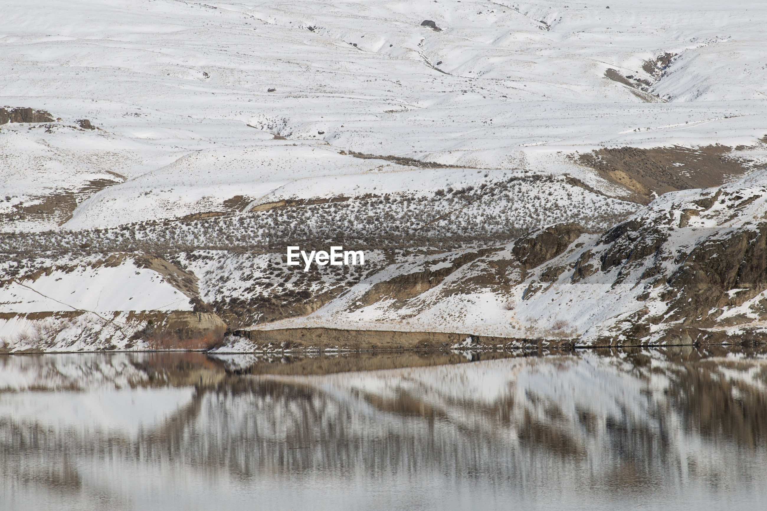 SCENIC VIEW OF FROZEN LAKE