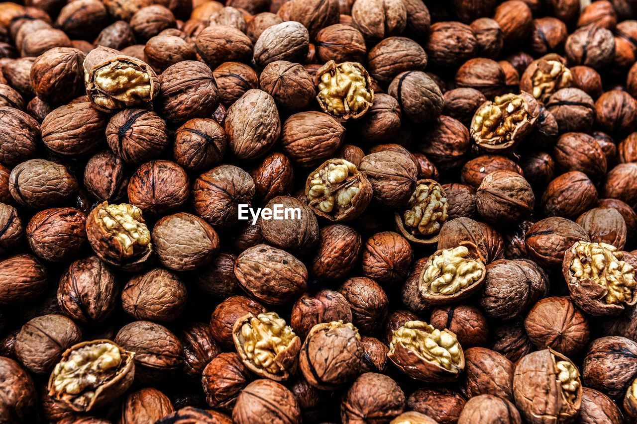 Detail shot of walnuts