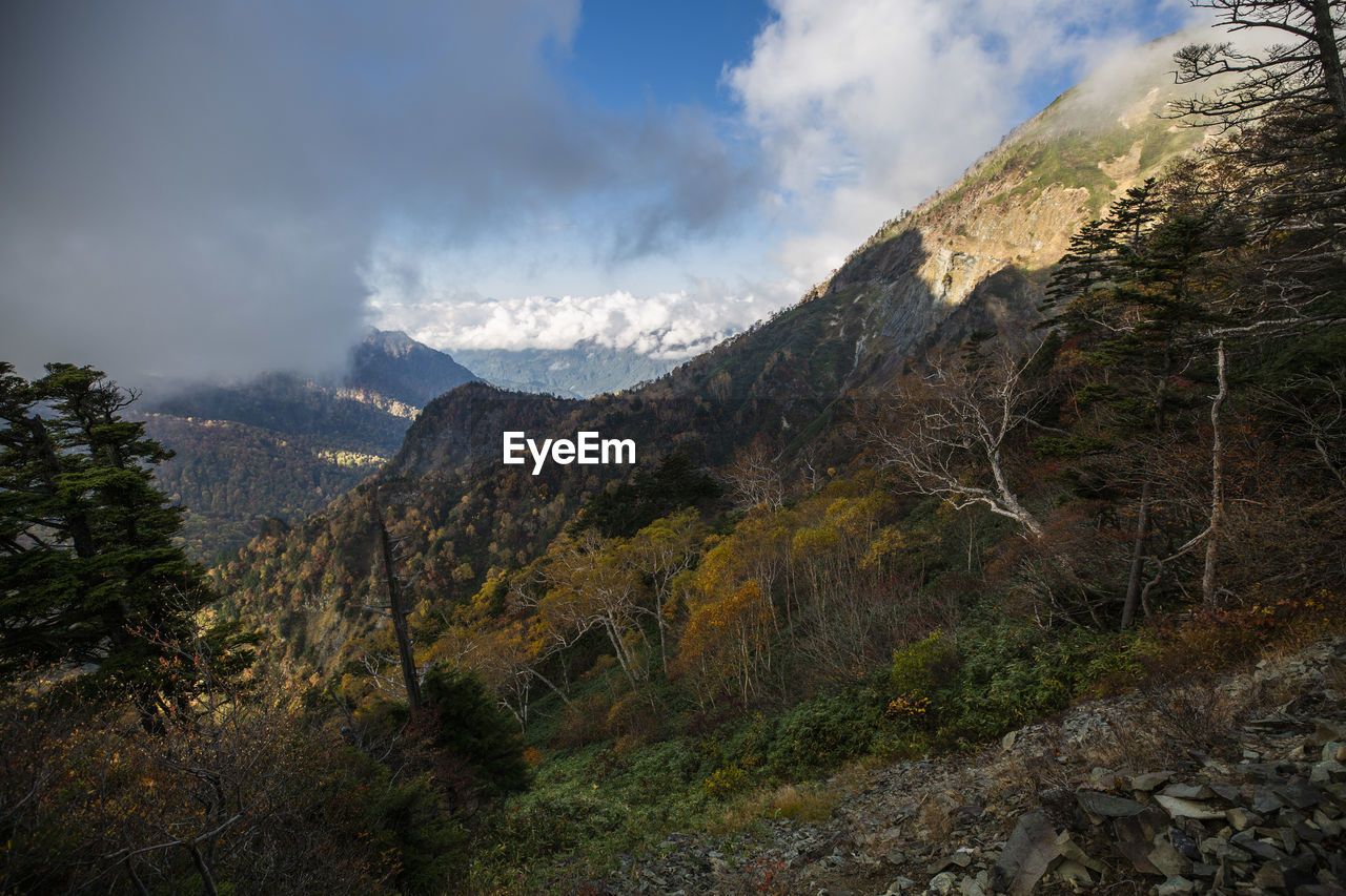 mountain, scenics - nature, sky, cloud - sky, beauty in nature, tranquil scene, environment, landscape, tranquility, plant, nature, mountain range, non-urban scene, tree, no people, day, rock, land, idyllic, outdoors, formation, mountain peak