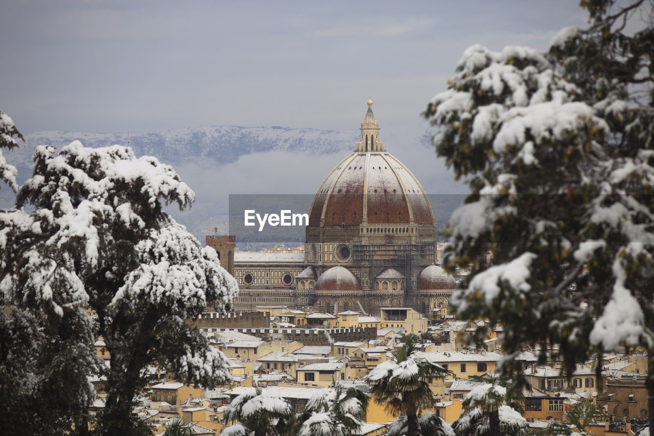 Florence Cathedral In City Against Sky During Winter
