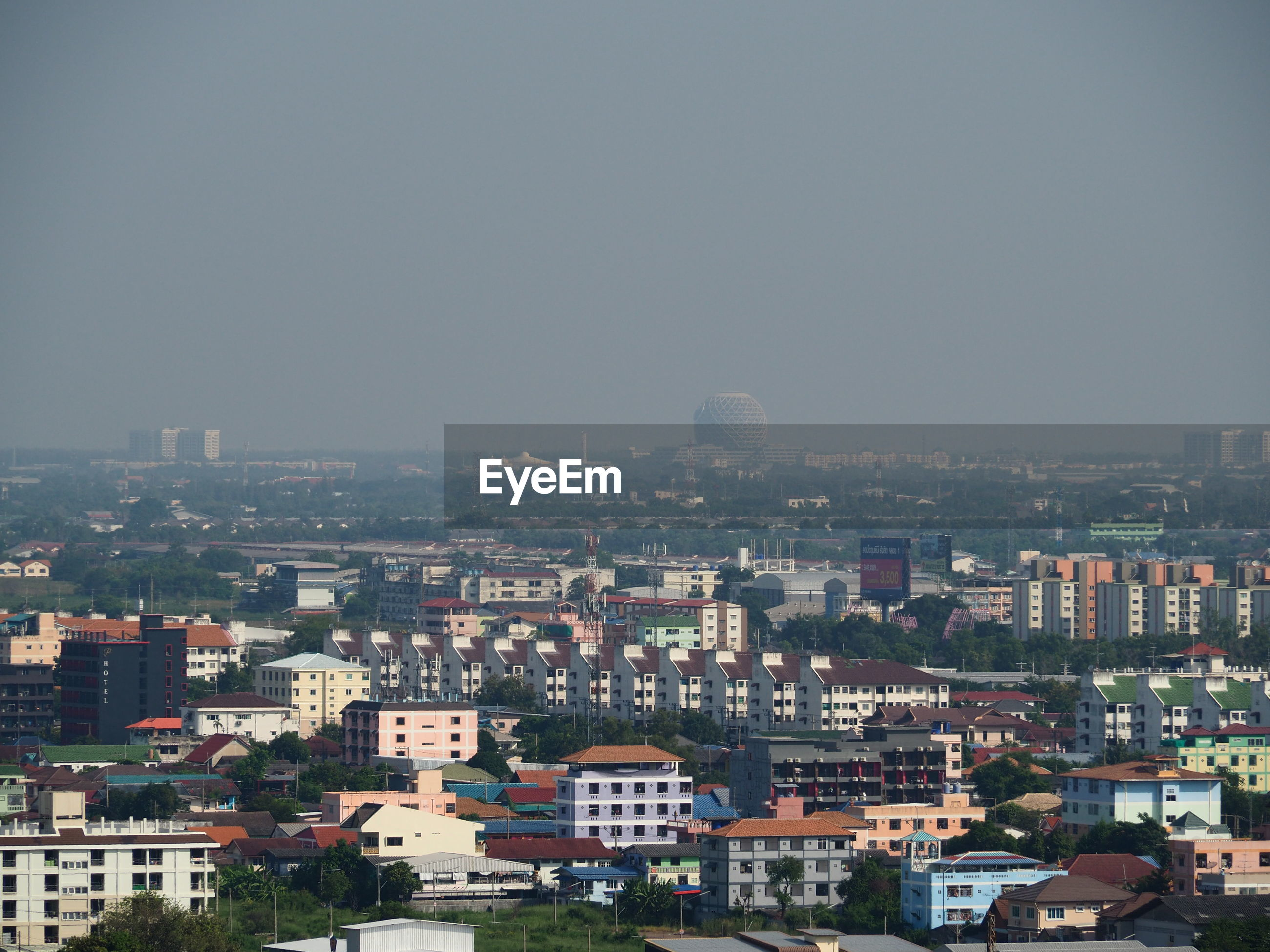 Panoramic view of buildings, rangsit thailand, november 15, 2019