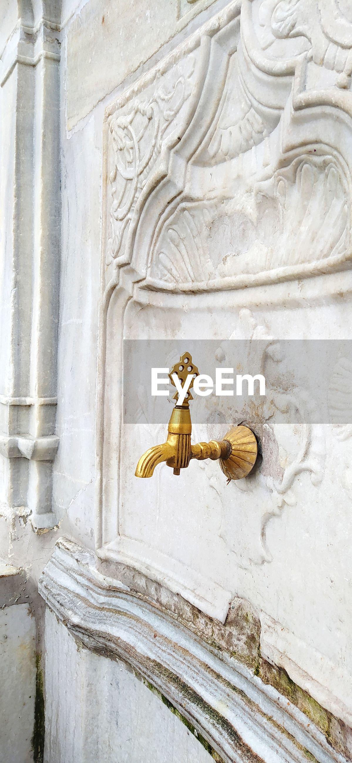 Ottoman turkish style white marble fountain