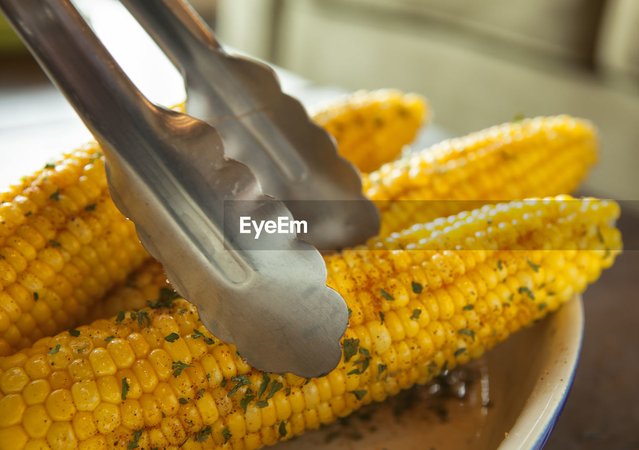 Close-Up Of Cooked Corn