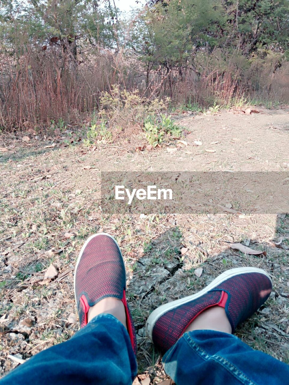 low section, human leg, shoe, one person, real people, day, human body part, standing, nature, lifestyles, outdoors, men, close-up, people