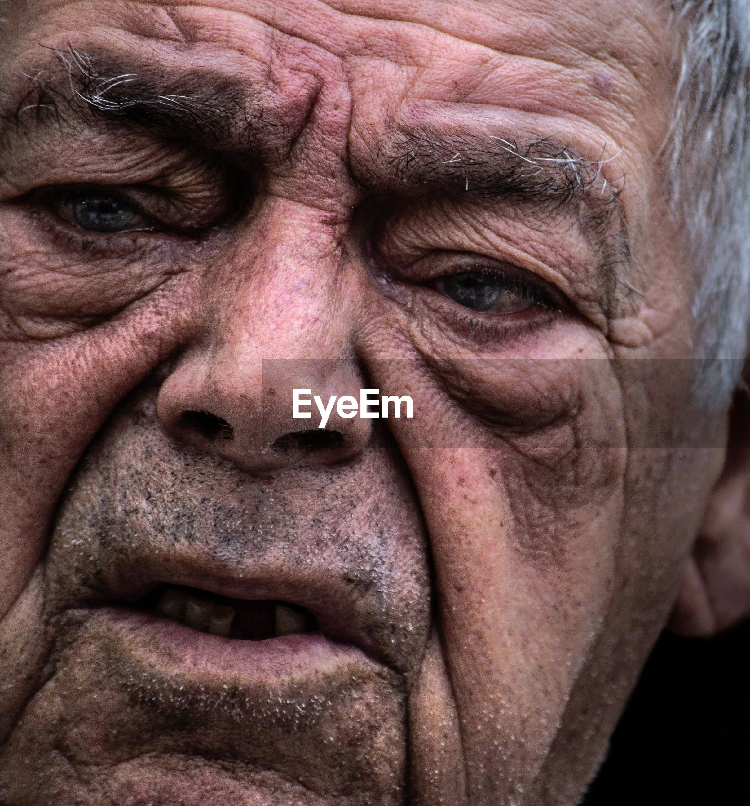close-up, adult, portrait, emotion, one person, human body part, body part, human face, wrinkled, men, front view, sadness, mature adult, beard, looking at camera, senior adult, real people, facial hair, mature men, contemplation, depression - sadness, social issues