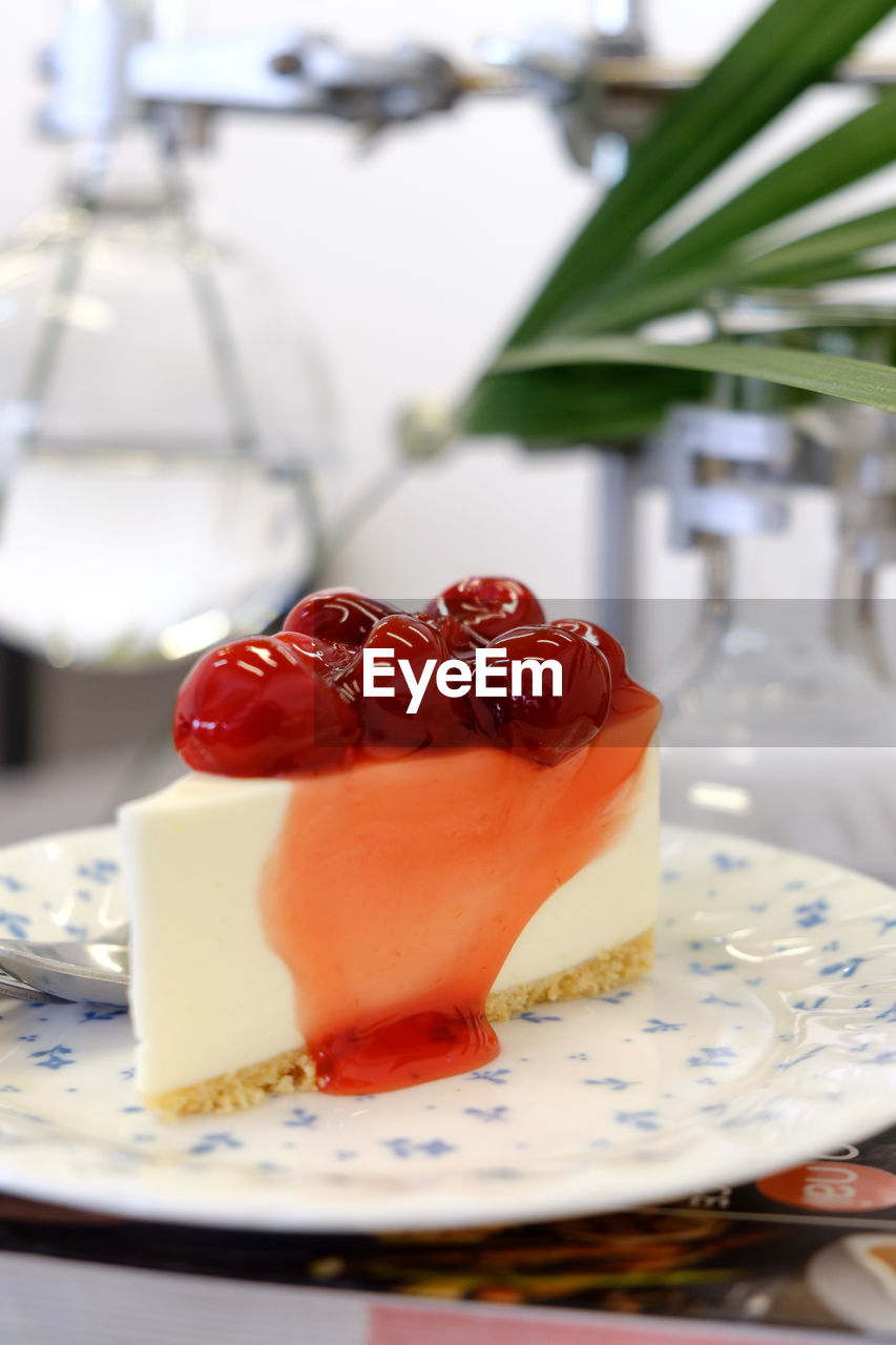 food and drink, food, plate, dessert, freshness, table, fruit, sweet, sweet food, close-up, ready-to-eat, indoors, indulgence, berry fruit, healthy eating, serving size, temptation, no people, focus on foreground, cake, crockery, breakfast, food styling