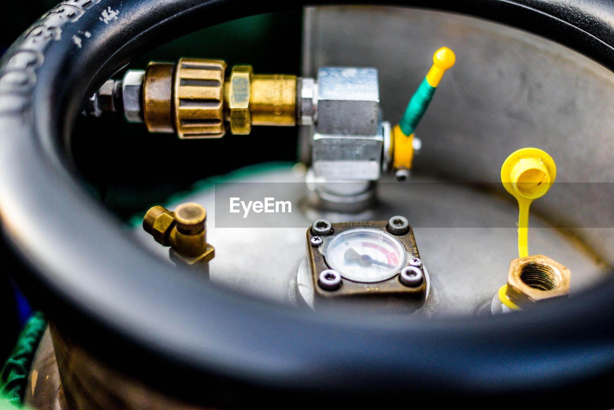 Close-up of cylinder