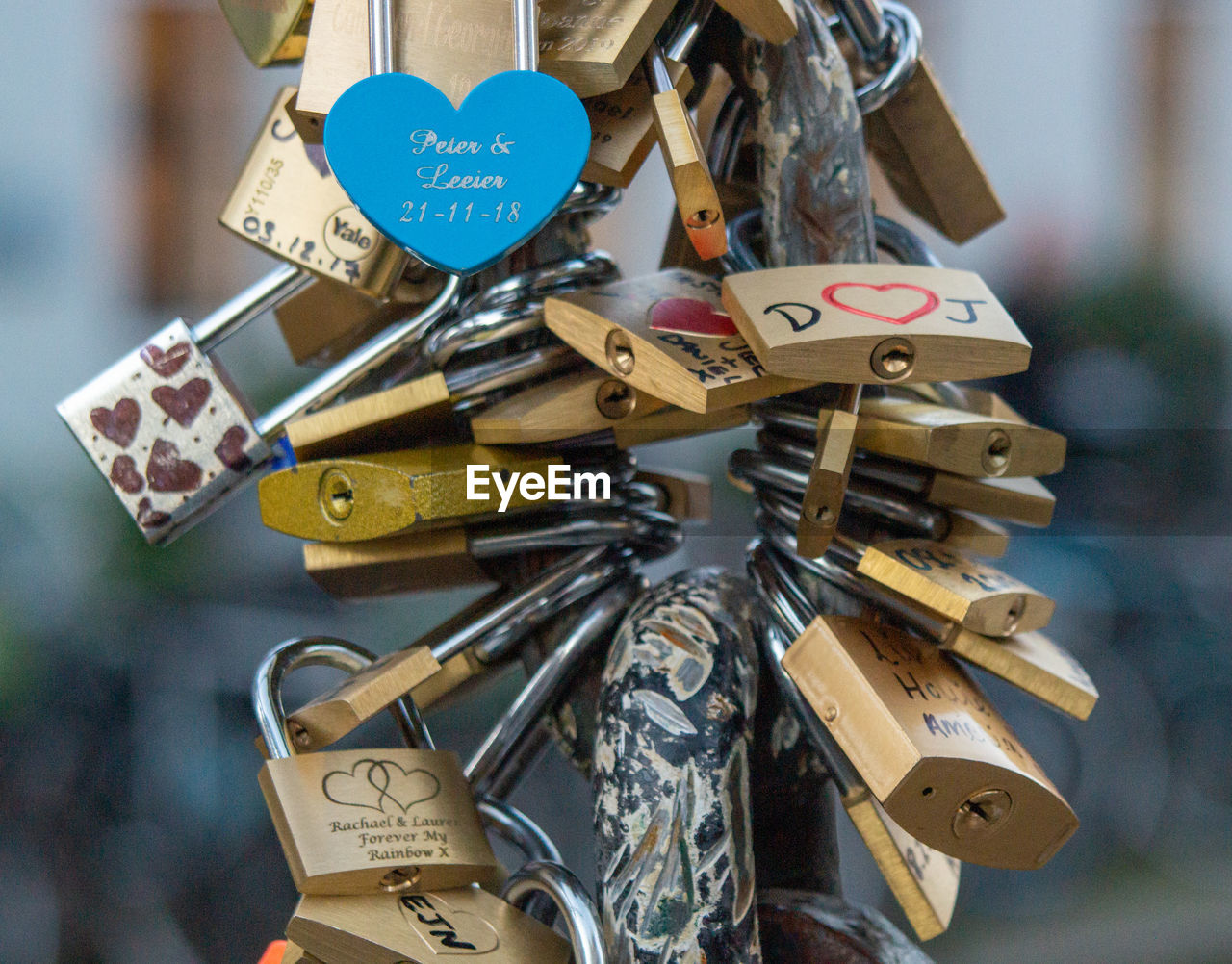 padlock, lock, large group of objects, variation, love, text, focus on foreground, close-up, safety, communication, hanging, love lock, day, choice, positive emotion, no people, abundance, metal, security, protection, outdoors