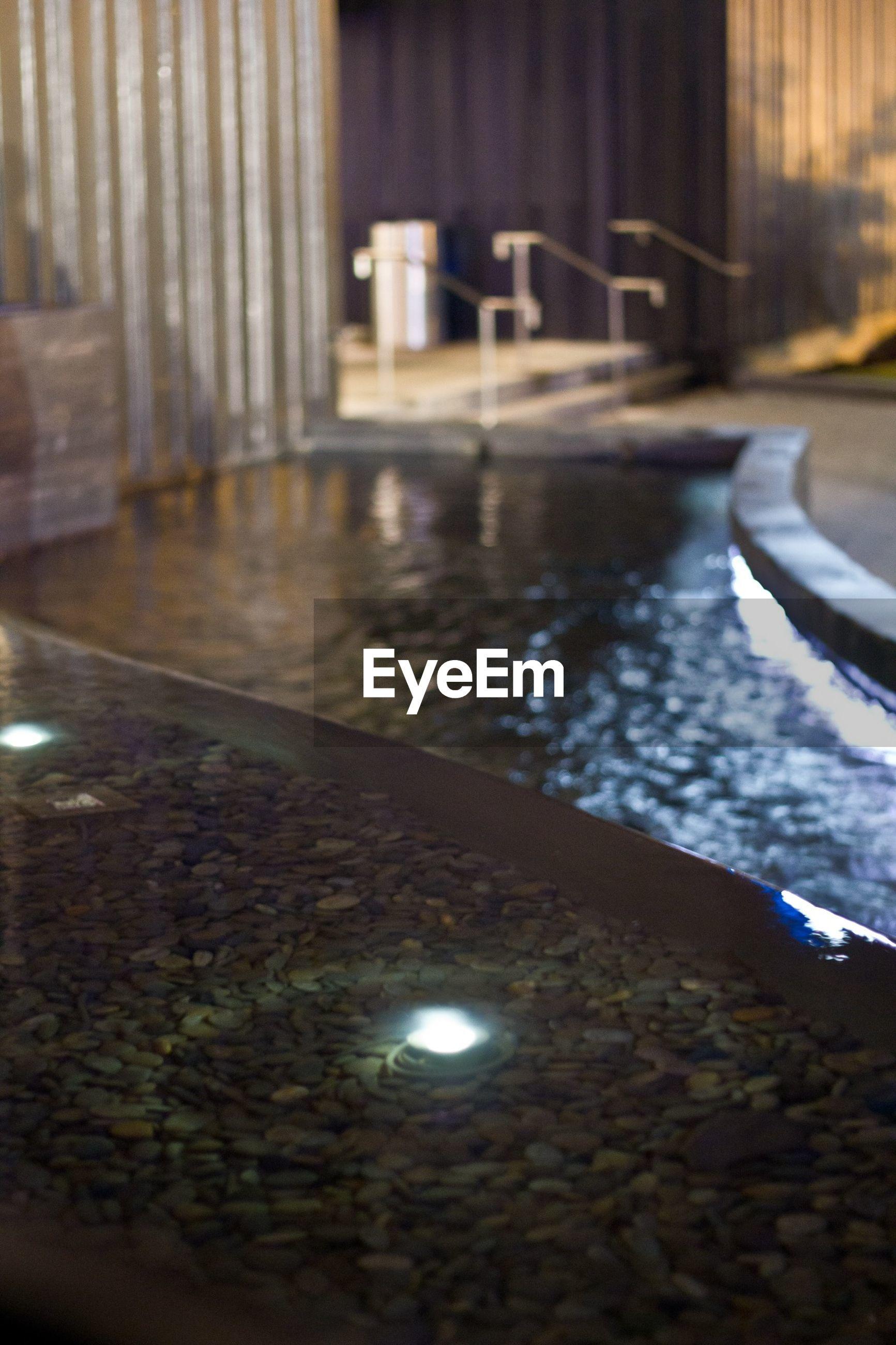 Close-up of illuminated fountain