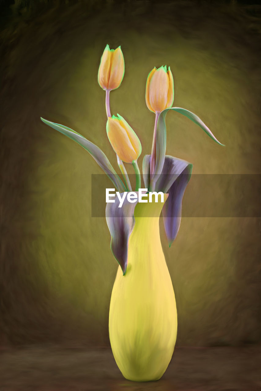 flower, petal, freshness, fragility, no people, flower head, beauty in nature, nature, close-up, yellow, tulip, food, indoors, day