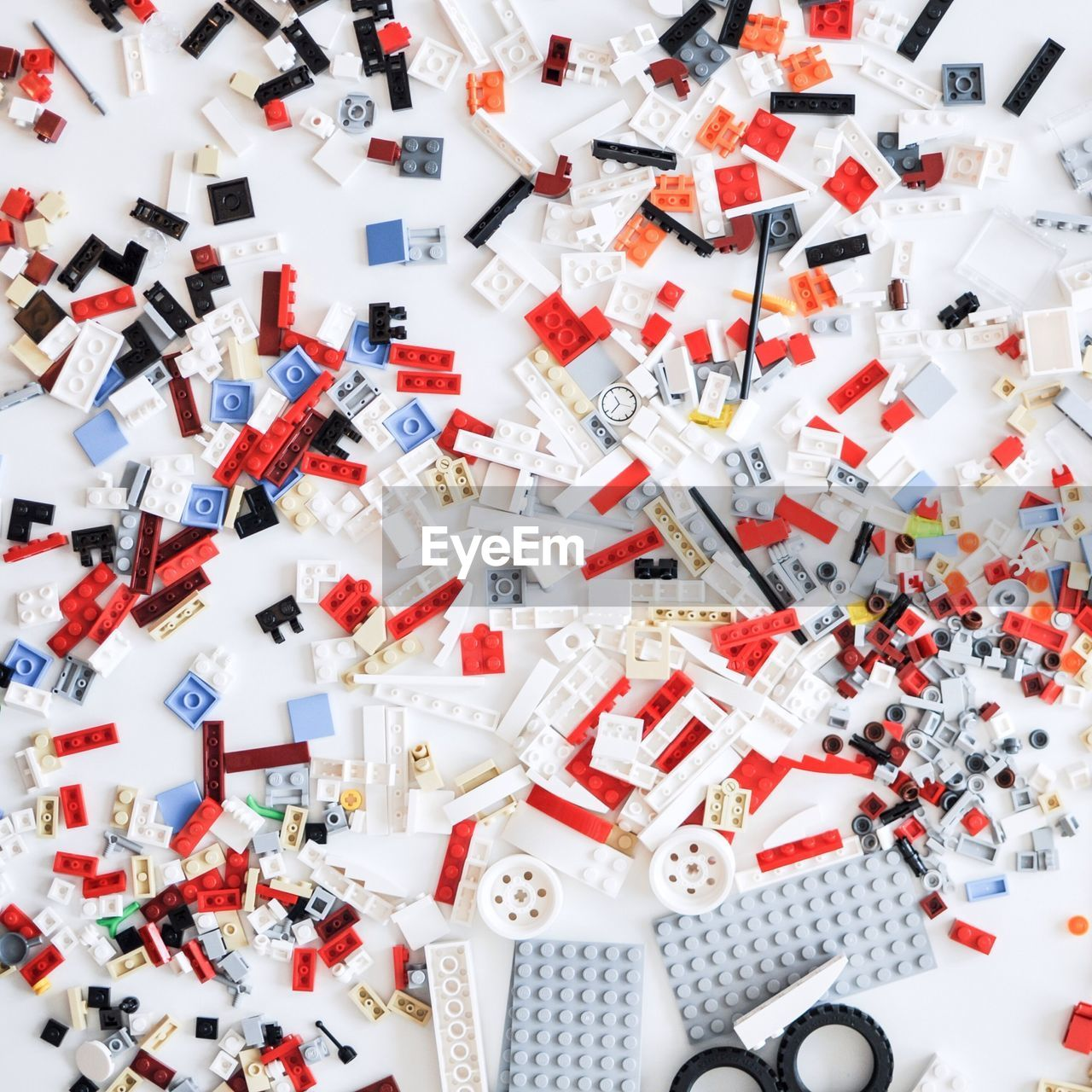High Angle View Of Toy Blocks On Table