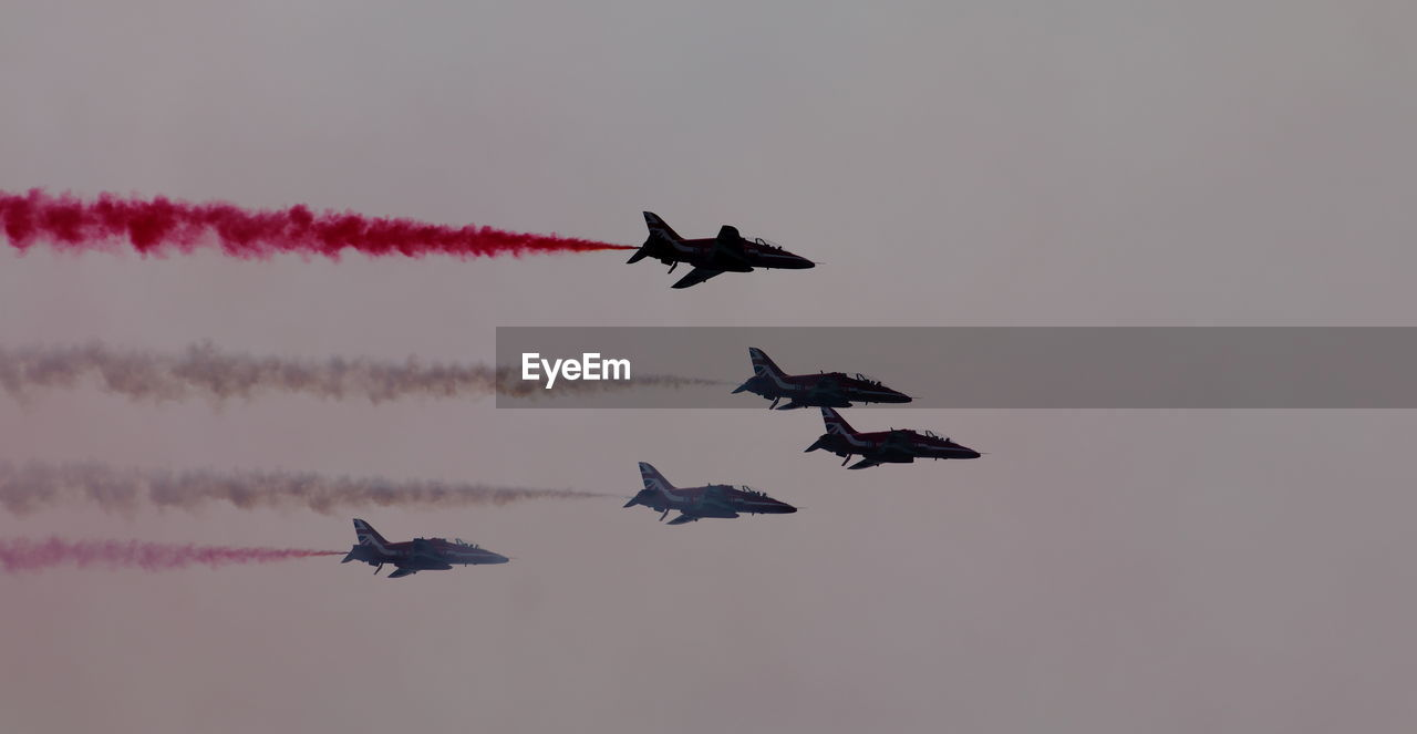 Fighter Plants Flying In Sky