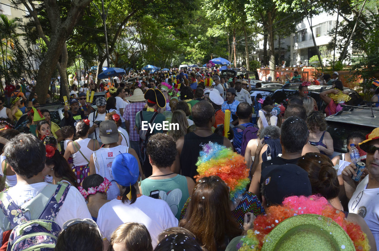 Crowd On Street During Carnival