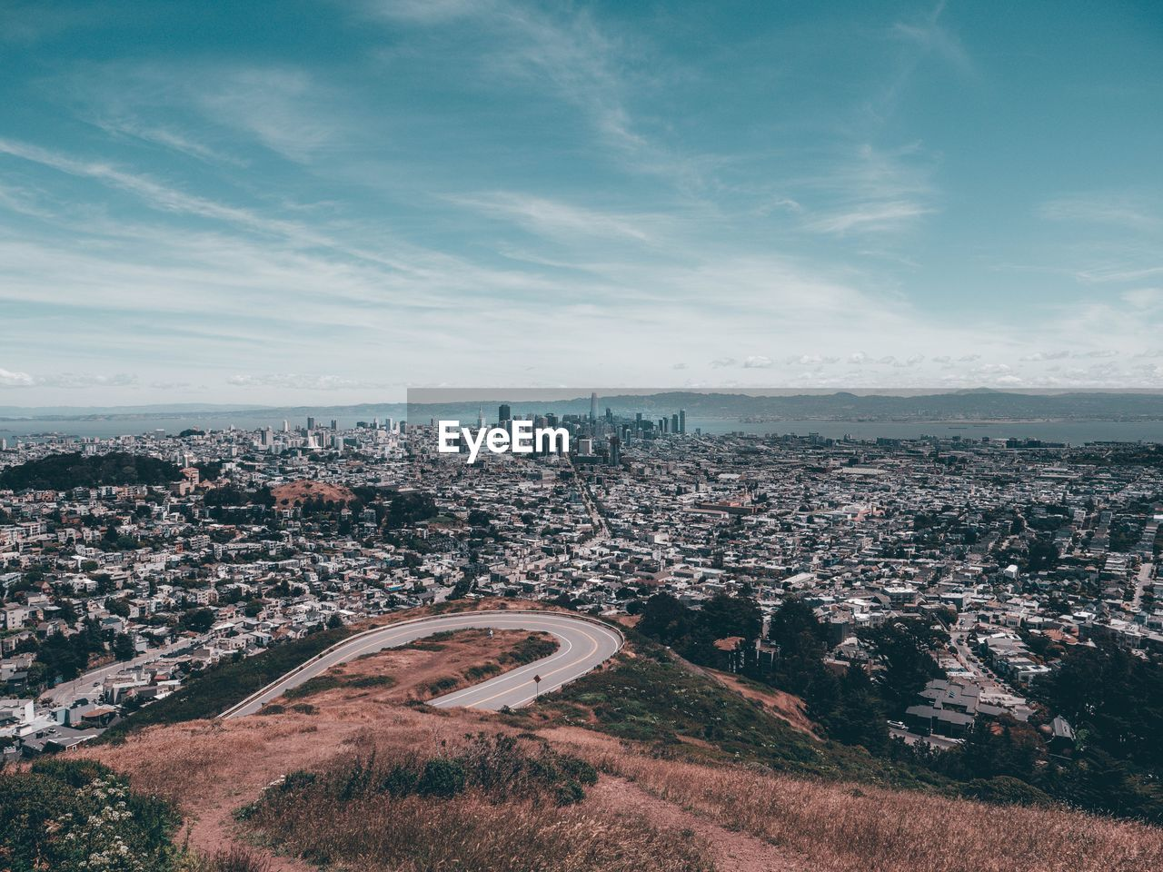 building exterior, architecture, built structure, city, cityscape, sky, cloud - sky, nature, high angle view, building, day, no people, residential district, aerial view, outdoors, environment, plant, landscape, townscape