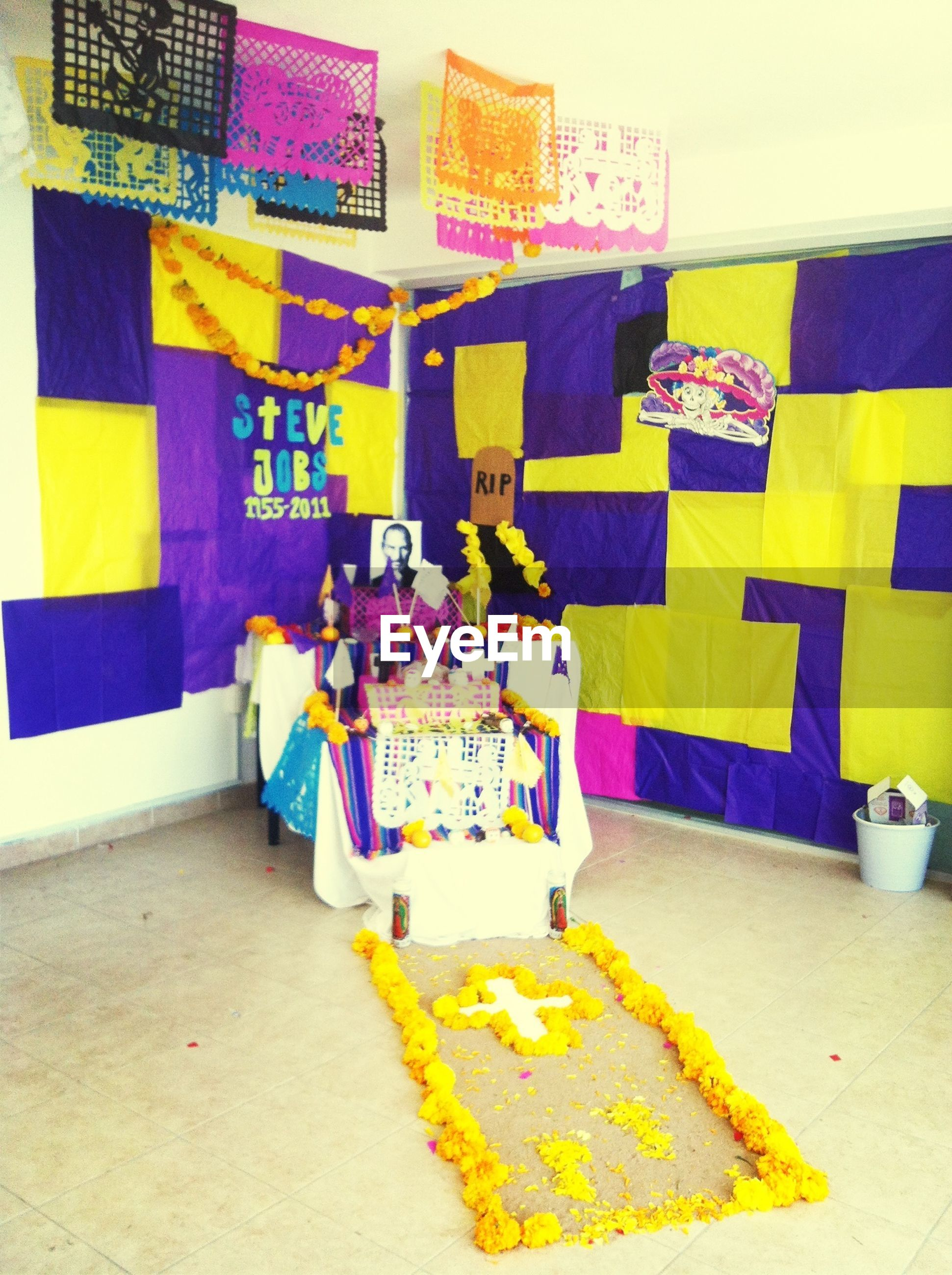 built structure, architecture, multi colored, wall - building feature, building exterior, variation, indoors, yellow, paper, wall, education, blue, large group of objects, day, communication, no people, art and craft, book, creativity, still life