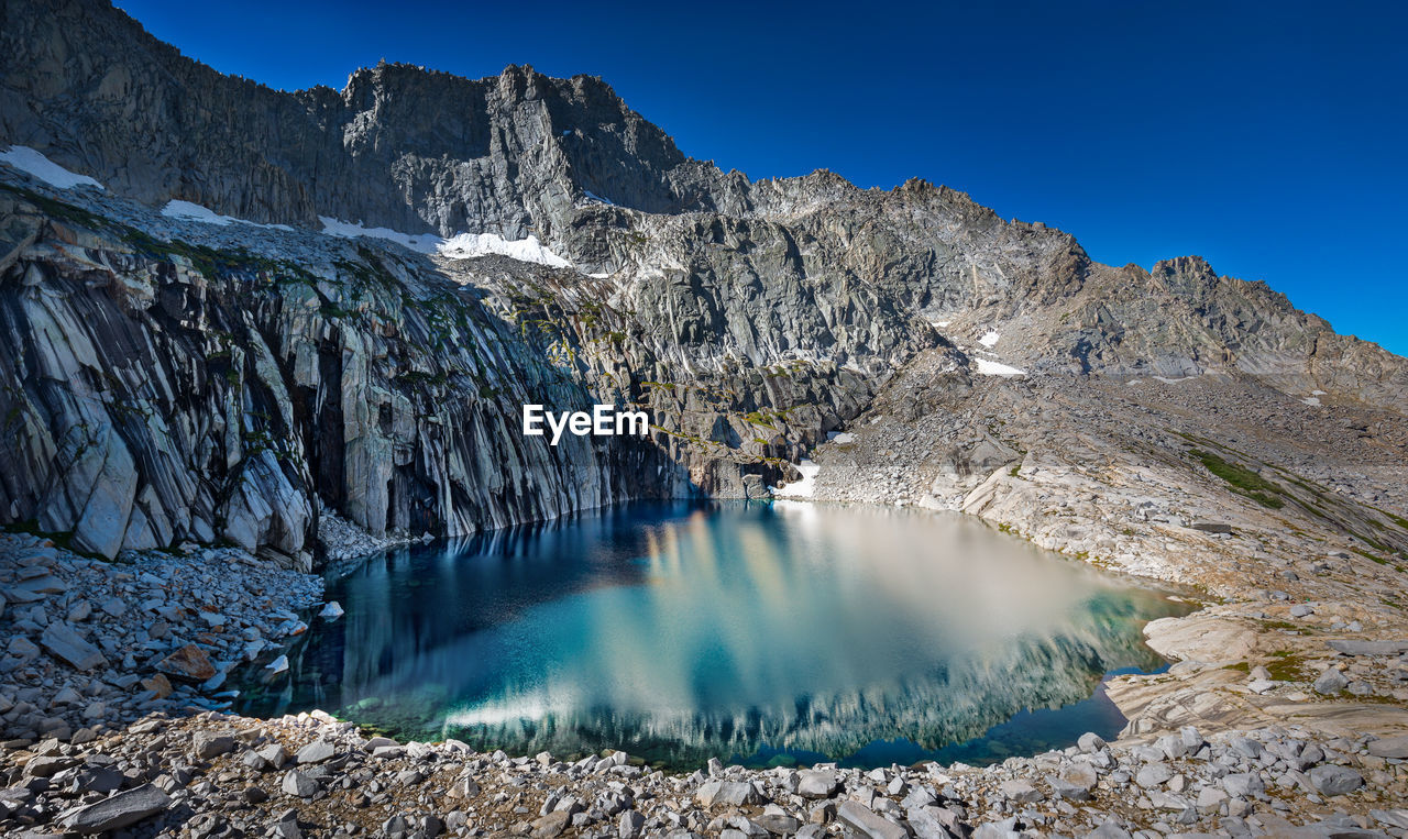 View Of Precipice Lake  Against The Sky