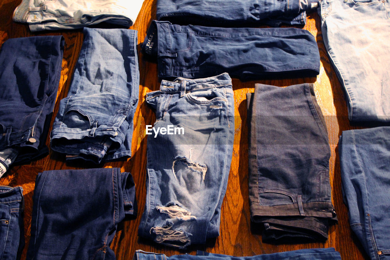 Various Blue Jeans