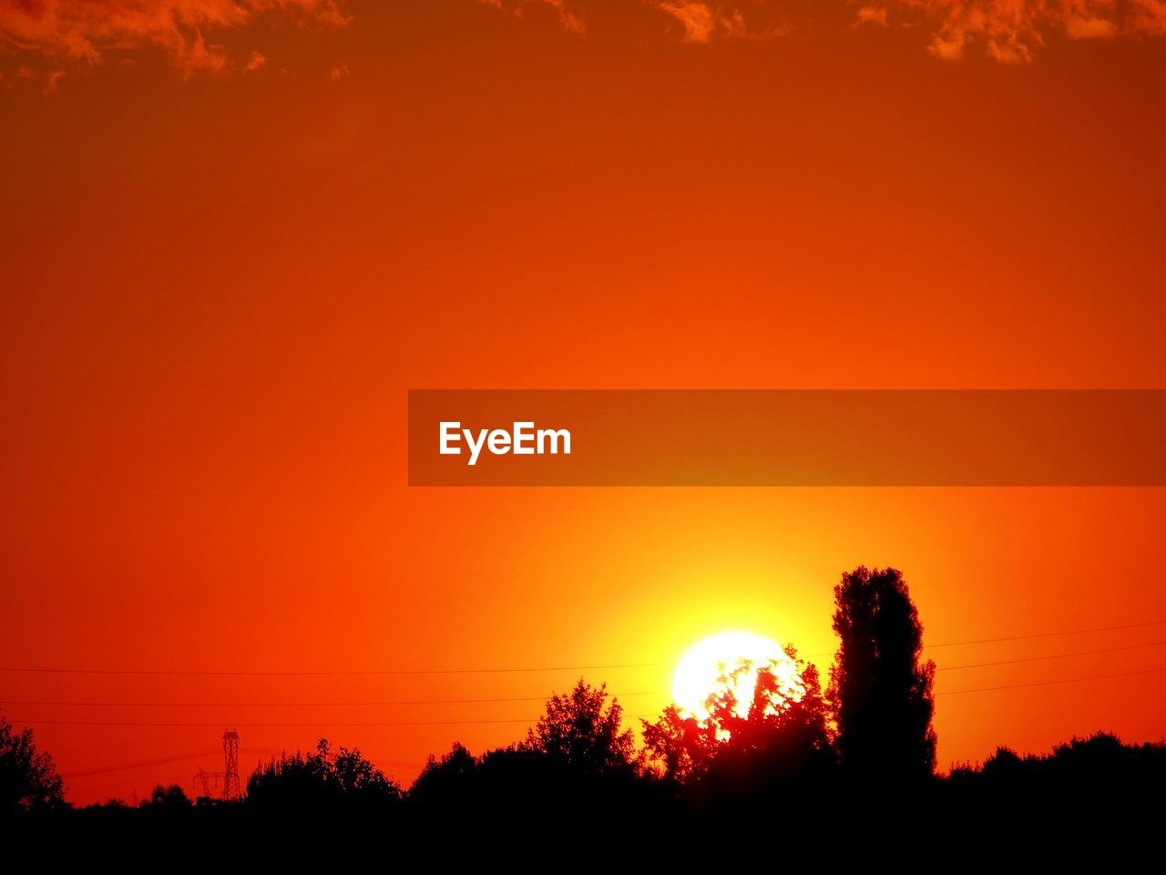 sunset, tree, orange color, silhouette, beauty in nature, nature, scenics, tranquil scene, no people, sun, tranquility, growth, outdoors, sky