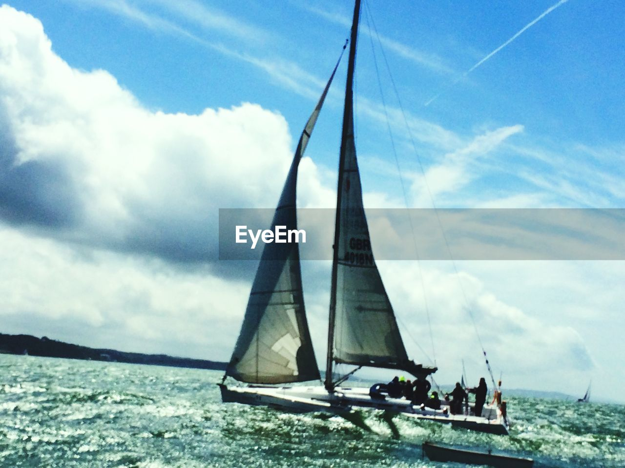 nautical vessel, sky, water, day, cloud - sky, transportation, outdoors, river, sailboat, sailing, waterfront, adventure, nature, real people, beauty in nature