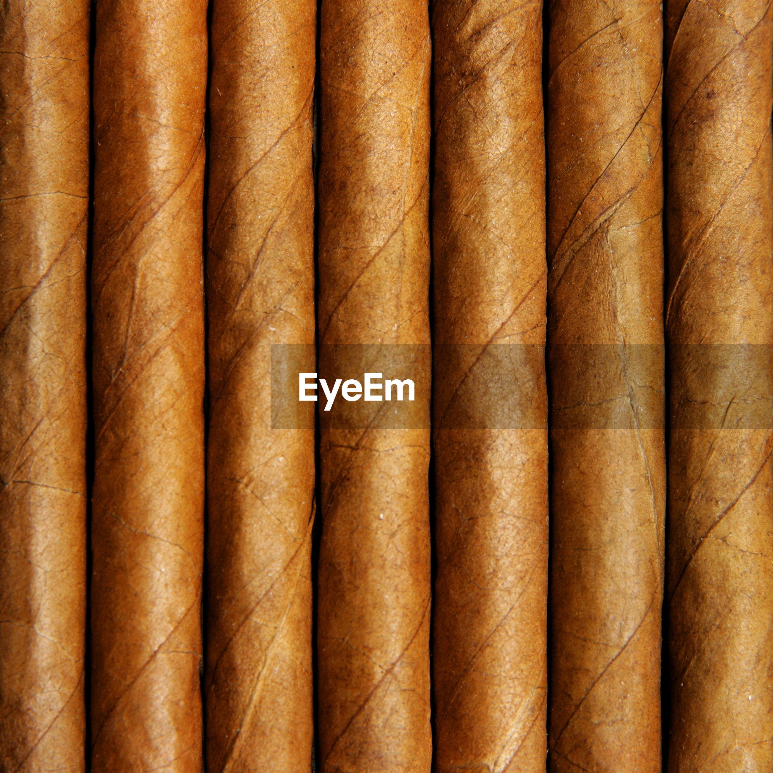 Full frame shot of cigars
