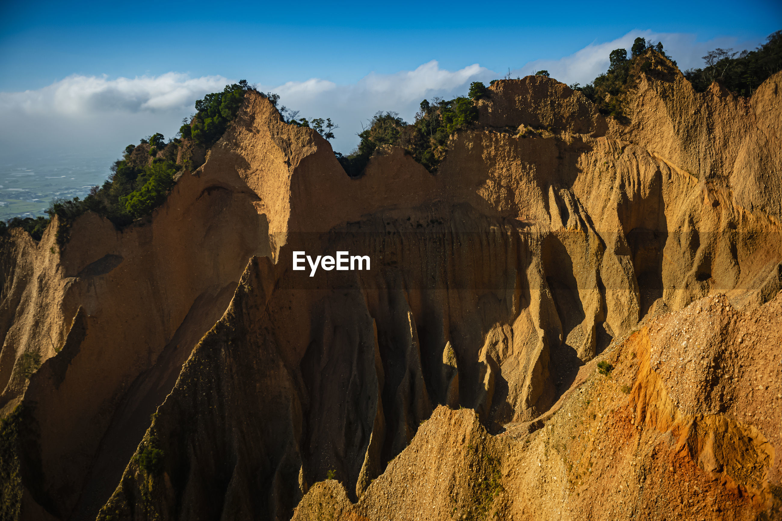 PANORAMIC VIEW OF ROCK FORMATION