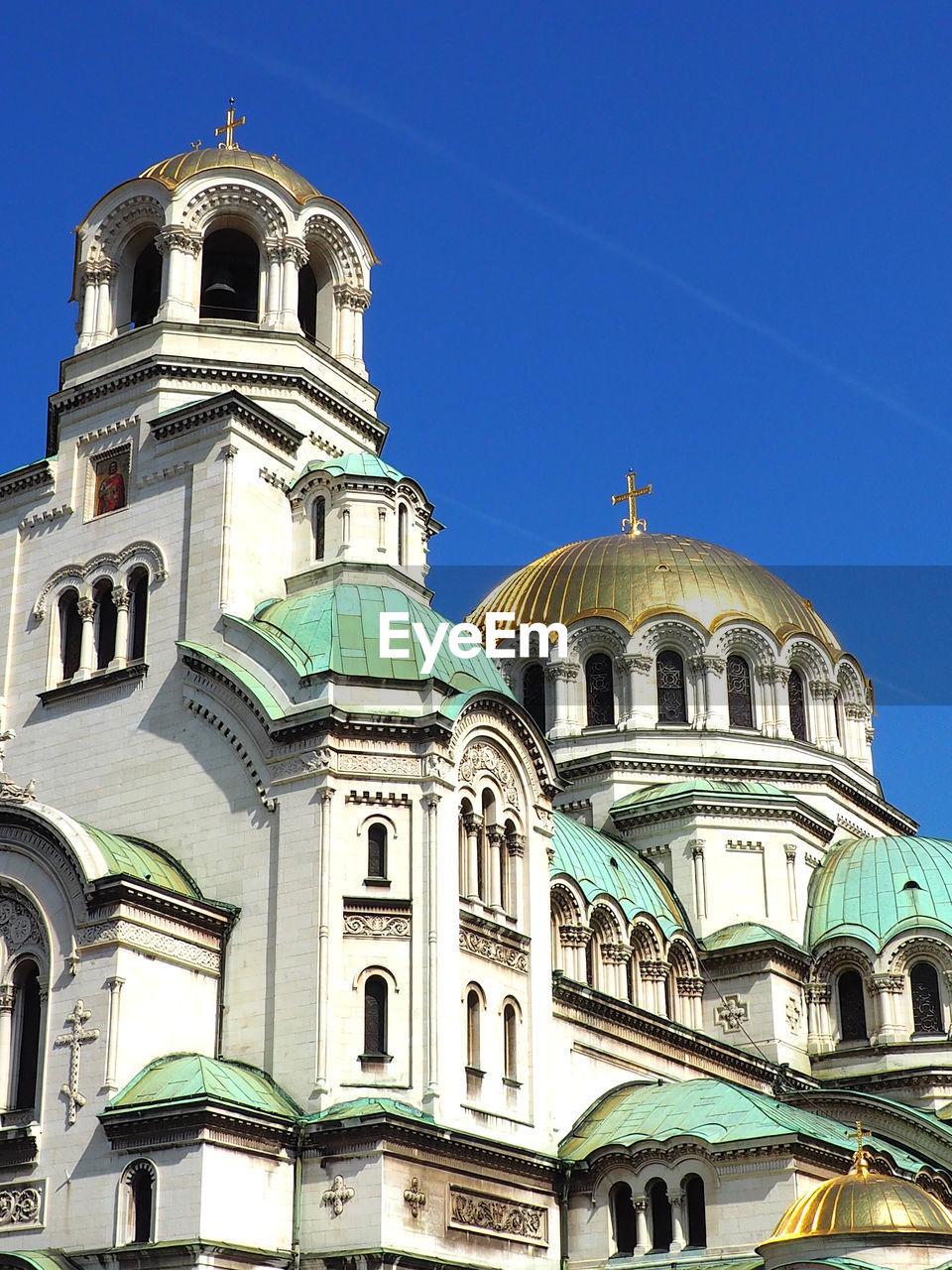 Low Angle View Of Alexander Nevsky Memorial Church Against Sky