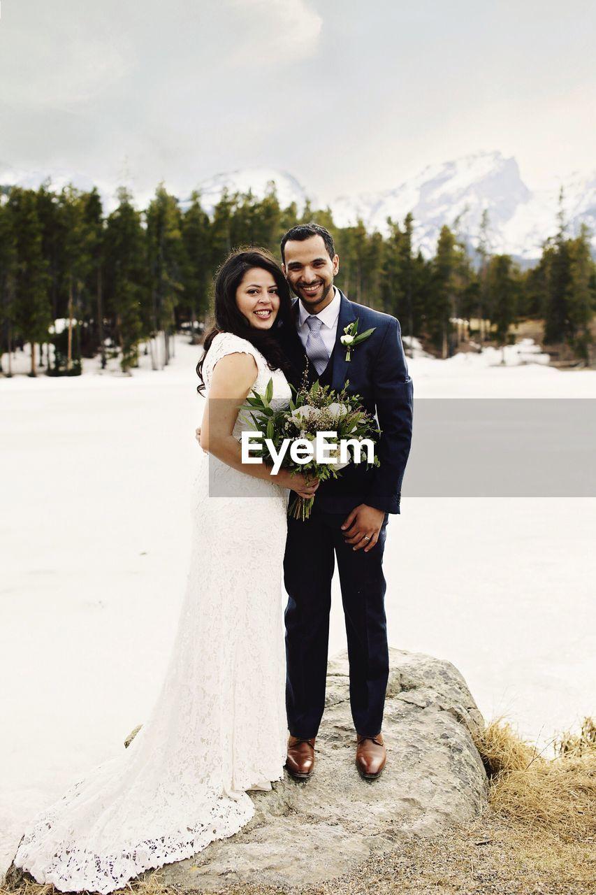 Portrait Of Happy Wedding Couple