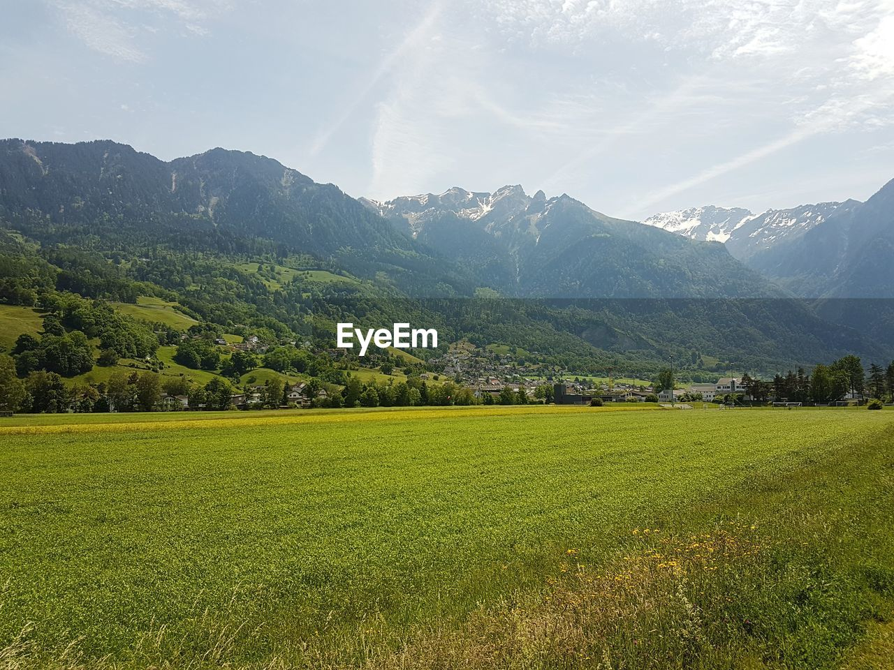scenics - nature, mountain, beauty in nature, landscape, environment, plant, sky, green color, tranquil scene, tranquility, land, grass, tree, field, growth, mountain range, nature, day, rural scene, no people, outdoors