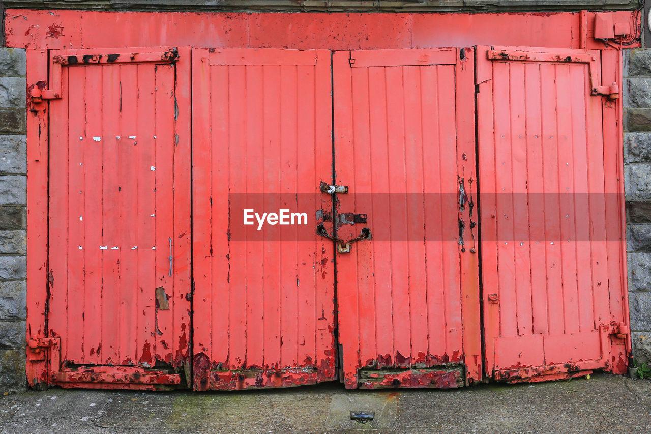 View Of Closed Door