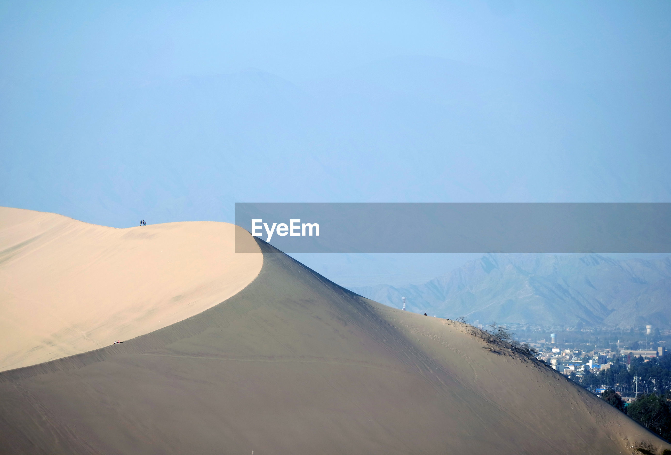 Scenic view of dune in the desert  against sky