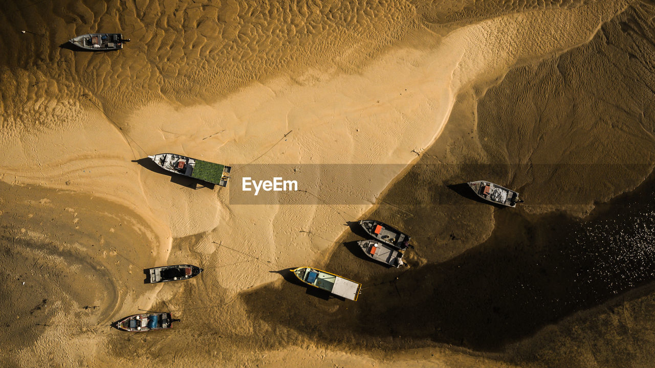 High Angle View Of Cars On Land