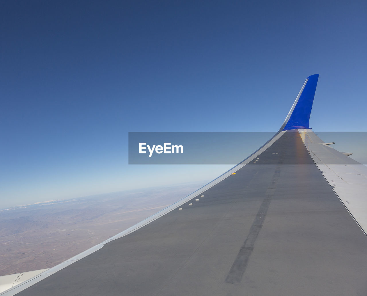 Low Angle View Of Airplane Wing
