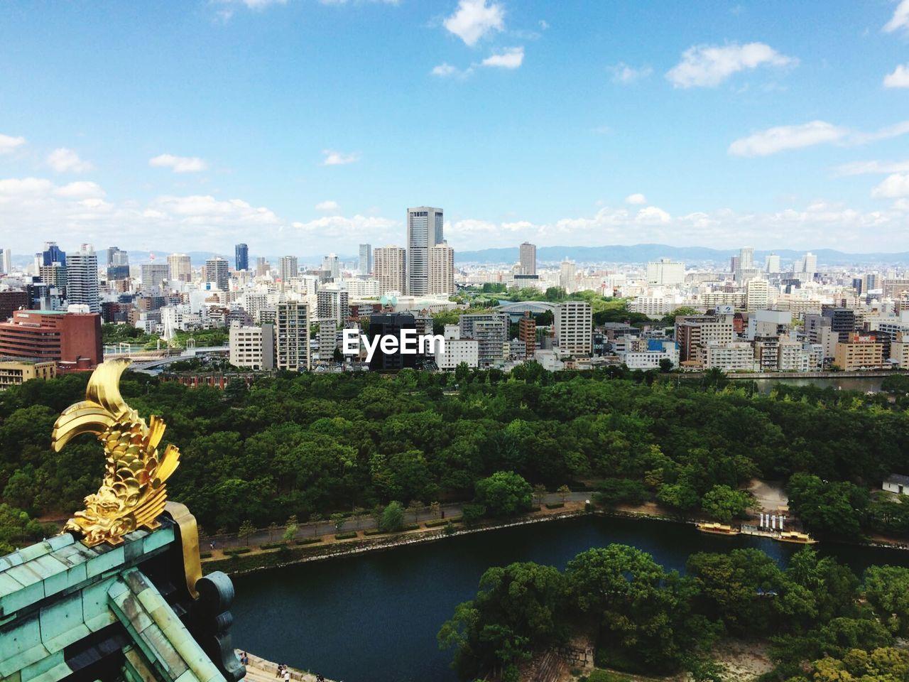 Golden Decoration On Top Of Osaka Castle