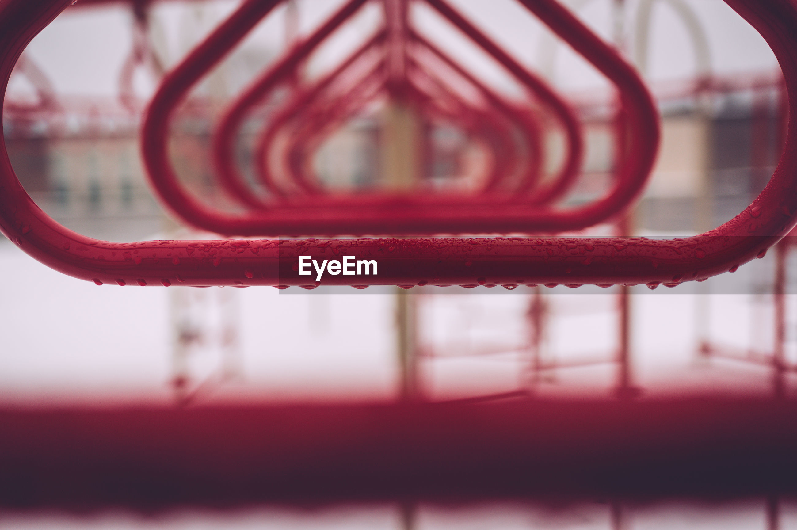 Close-up of red metal