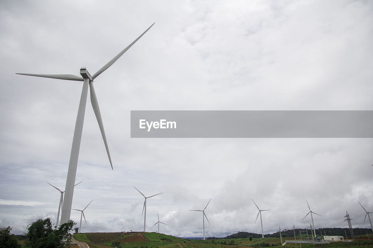 turbine, wind turbine, renewable energy, fuel and power generation, alternative energy, environmental conservation, wind power, environment, cloud - sky, sky, landscape, nature, technology, day, rural scene, field, land, no people, low angle view, blade, outdoors, sustainable resources, power supply, power in nature