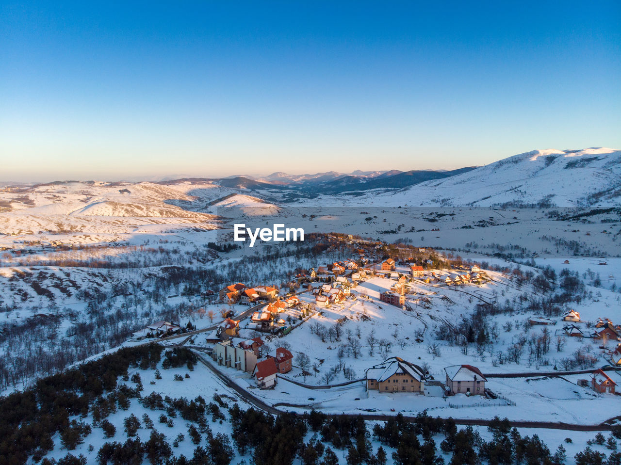 cold temperature, winter, mountain, snow, scenics - nature, beauty in nature, sky, landscape, environment, no people, tranquil scene, nature, tranquility, snowcapped mountain, non-urban scene, copy space, mountain range, idyllic, high angle view, range