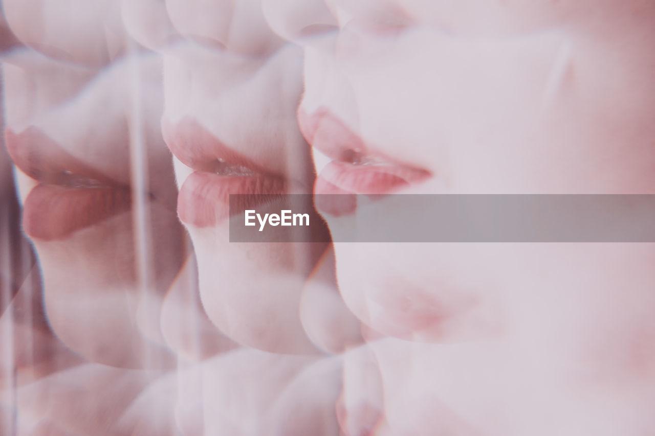 Digital composite image of woman face