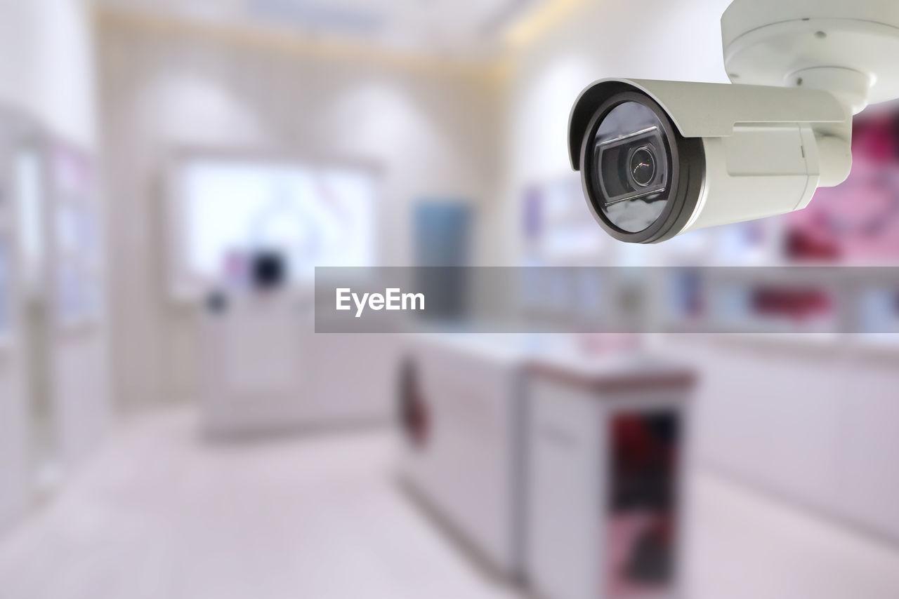 Close up of security camera