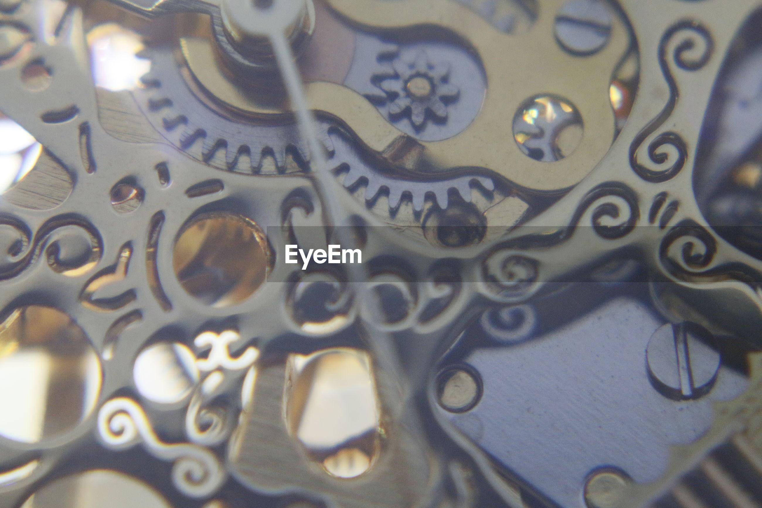 Full frame shot of a clock