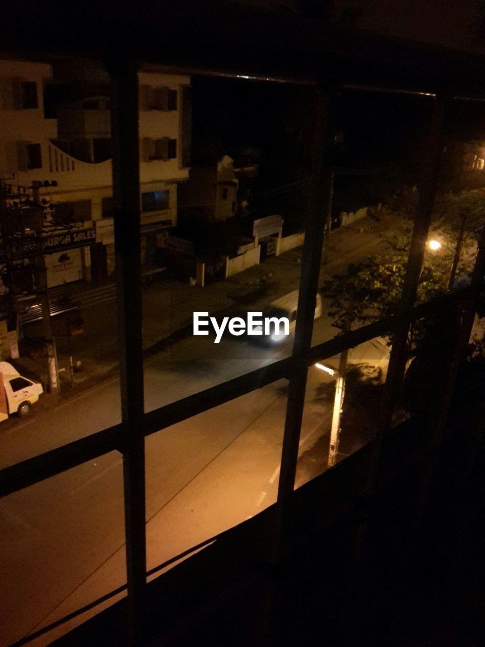 night, illuminated, indoors, dark, window, no people, architecture