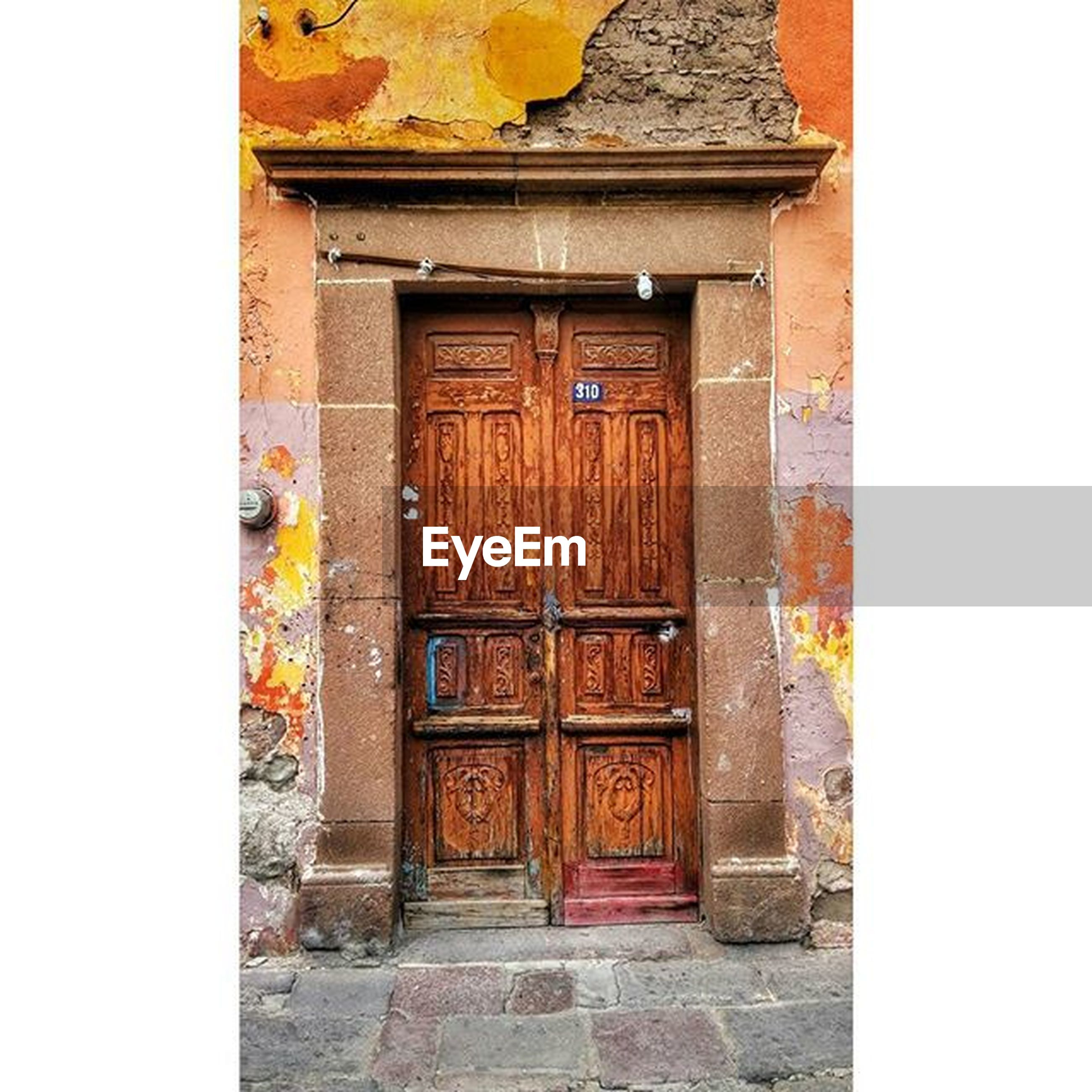 architecture, built structure, building exterior, door, entrance, house, transfer print, closed, wood - material, auto post production filter, residential structure, old, steps, doorway, wall - building feature, outdoors, day, building, window, no people