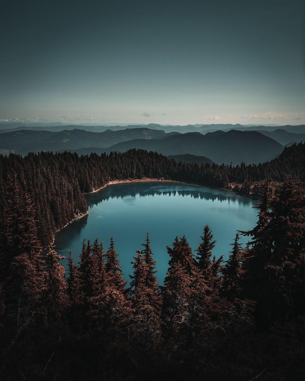 scenics - nature, beauty in nature, tranquil scene, tranquility, sky, tree, mountain, non-urban scene, water, plant, nature, no people, idyllic, lake, mountain range, forest, landscape, environment, remote